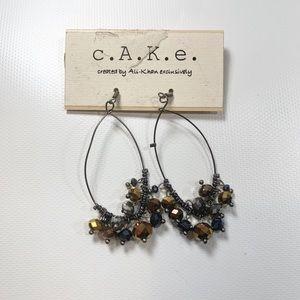 C.a.k.e | New Earring Dangle Brown Chrome